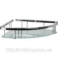 Полочка для ванной комнаты со стеклом 19см