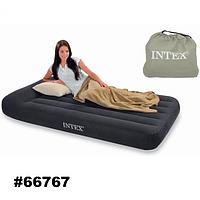 Матрас - кровать велюровая надувная + сумка 66767 Intex