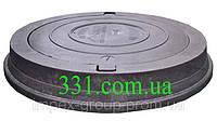 Люк важкий каналізаційний полімерпіщаний чорний  (С250)