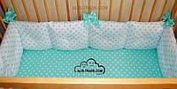 Подушка бортик в кроватку размеры