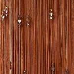 Шторы-нити кисея Тройной стеклярус №10 (коричневый)