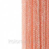 Шторы-нити кисея Пружинки №209 - персиковый