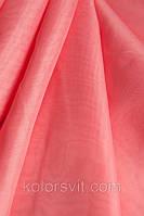 Ткань Шифон для декора окон и помещений, фрезово-розовый