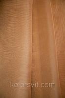 Ткань Шифон для декора окон и помещений, золотисто-бежевый