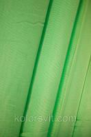 Ткань Шифон для декора окон и помещений, сочный салатовый