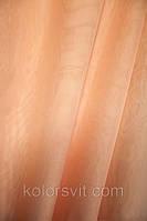 Ткань Шифон для декора окон и помещений, персиковый
