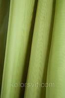 Ткань Шифон для декора окон и помещений, светло-оливковый