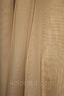 Ткань Шифон для декора окон и помещений, светло-бежевый