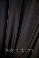 Ткань Шифон для декора окон и помещений, черный