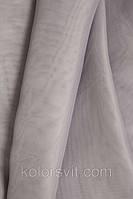 Ткань Шифон для декора окон и помещений, светло-серый
