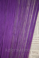 Шторы-нити кисея Однотонные №205 (фиолетовый)