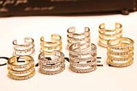 Бандажные кольца Repossi 4в1 с камнями