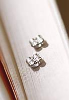Серебрянные заглушки на сережки