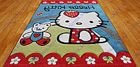 """Ковер для детской комнаты """"Hello kitty"""" Китти с мишкой.  Ковер для детей"""