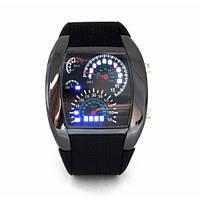 """Светодиодные бинарные электронные часы спидометр """"STREET RACER"""""""