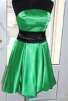 Коктейльное платье корсетное зеленое, размер универсальный 42-44-46