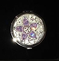 """Зеркальце карманное косметическое в подарочной упаковке, """"серебряный"""" корпус, коллекция """"Wnm"""""""