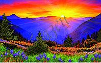 Картина для вышивки бисером А3 Восход в горах КМР 3015