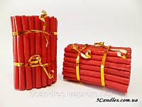 Восковые красные свечи 12см