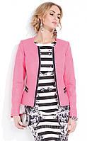 Жакет женский Anita Zaps розового цвета с застежкой на молнии, из коттона.