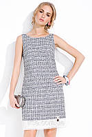 Платье Evita Zaps светло-серого цвета из коттона.