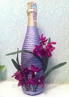Декор бутылки ручная работа  Пролиски