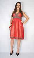 Платье вечернее с открытой спиной (красное)