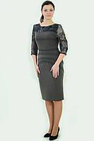 Платье, с гипюром , по колено, текстиль «Нефертити», пл 033-5.