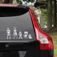 Наклейки в машину Семья Зомби Ходячие Мертвецы Walking Dead