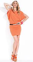 Летнее платье-туника Debbie Zaps оранжевого цвета.