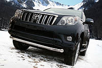 Защита передняя, дуга по бамперу одинарная Toyota Land Cruiser Prado 150