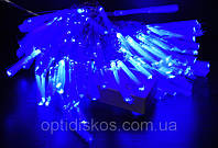 Гирлянда  с кисточками LED 102 Blue, 100 светодиодов голубого цвета