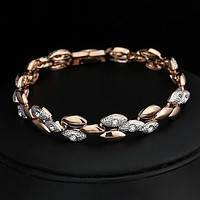 Браслет CLASSIC ювелирная бижутерия золото 18к декор Swarovski