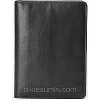 Мужская обложка на паспорт - портмоне CARLTON черного цвета
