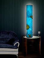 """Дизайнерский торшер-светильник 105 см """"Голубые цветы"""""""