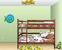 Деревянная Двухъярусная кровать-трансформер для детей