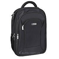 """Рюкзак деловой для ноутбука, большой с тремя отделениями, 18"""", фото 1"""