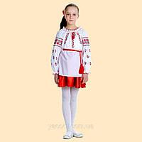 Вышиванка для девочки. Актуально как блуза школьная. Бывает с молочной  и голубой вышивкой