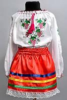 """Вышитая рубашка """"Виноградик"""" для девочек оптом и в розницу, фото 1"""