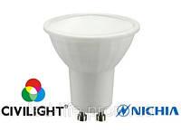 Лампа светодиодная GU10,  5Вт, 220В