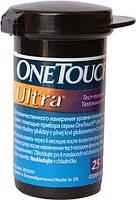 Тест-полоски для глюкометра One touch Ultra, 25шт.