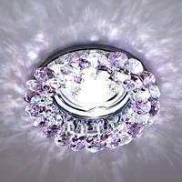 Встраиваемый декоративный светильник с кристаллами Feron CD4141 сирень - хром