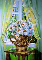 Схема для вышивки бисером Букет ромашек КМР 3119
