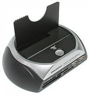 Док-станция Winstars WS-UEC310S, USB2.0, хаб USB 2p, картридер