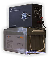 Готове енергорішення! ДБЖ Luxeon UPS-500L + Акумулятор LP-MGL 12V 65AH, 5-8 годин резервної роботи котла!