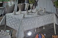 """Бамбуковая скатерть Pinarcan """"Natalia"""" на 8 персон с кольцами 160х220см. Турция pi-02"""