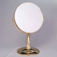 """Настольное зеркало  со стразами Swarovski """"Золотой глянец"""" с х5 увеличением"""