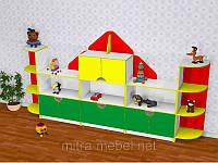 Детская стенка для игрушек Домик