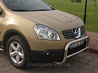 Защитная дуга переднего бампера на Nissan Qashqai.