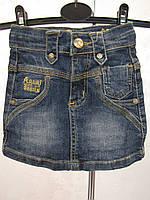 Джинсовая мини-юбка для девочек